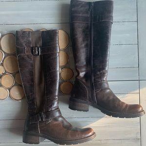 Aquatalia Brown Leather Knee High Boots